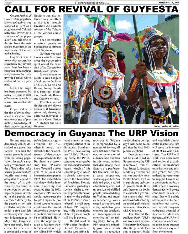 The Republican News: The Republican – E NewsURP Guyana